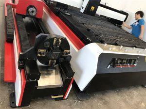 mașină stabilă de tăiere cu laser din fibră de metal, mașină de tăiat cu laser cu metal cnc