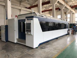 mașină profesională de tăiere cu laser cu fibre cnc 1000w 1500w cu masă de schimb