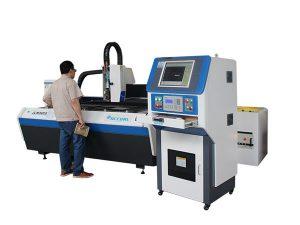 mașină de tăiere cu laser cu fibre de precizie din oțel inoxidabil, structură deschisă cu bilă de mare viteză