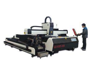 mini mașină de tăiat cu laser de înaltă putere, echipament de tăiere cu fibre laser cu masă de schimb