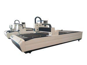 Echipament de tăiere cu tub laser cu dublă utilizare, mașină profesională de tăiere a tubului laser cnc